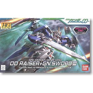 GUNDAM 00 RAISER AND GN SWORD HG 1/144